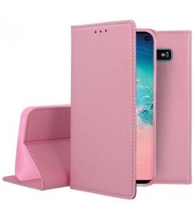 """Rožinis atverčiamas dėklas Samsung Galaxy S10 telefonui """"Smart Book Magnet"""""""