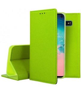 """Žalias atverčiamas dėklas Samsung Galaxy S10 telefonui """"Smart Book Magnet"""""""