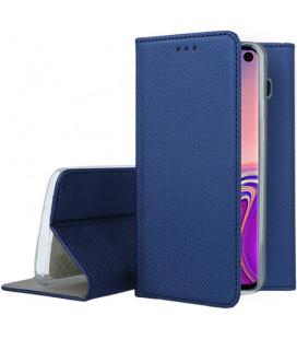 """Mėlynas atverčiamas dėklas Samsung Galaxy S10 telefonui """"Smart Book Magnet"""""""