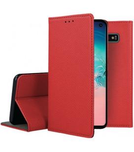 """Raudonas atverčiamas dėklas Samsung Galaxy S10 telefonui """"Smart Book Magnet"""""""