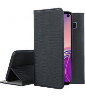 """Juodas atverčiamas dėklas Samsung Galaxy S10 telefonui """"Smart Book Magnet"""""""