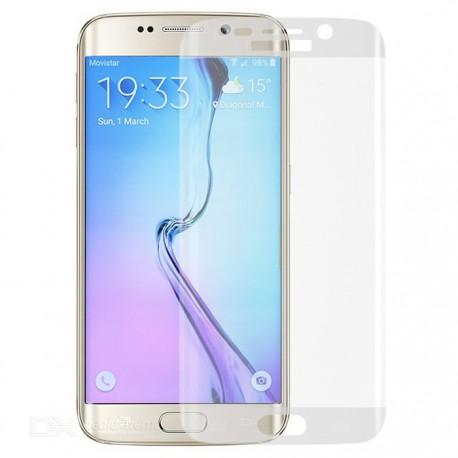 Apsauginis grūdintas stiklas su rėmeliu skaidrus Samsung Galaxy S6 Edge telefonui