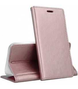 "Dėklas ""Smart Magnetic"" Samsung A202F A20e rožinis-auksinis"