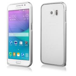 Sidabrinės spalvos metalinis rėmelis - dėklas Samsung Galaxy S6 G920 telefonui