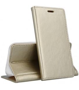"""Dėklas """"Smart Magnetic"""" Samsung A505 A50 rožinis-auksinis"""