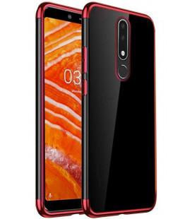 Dėklas Elegance TPU Nokia 3.1 Plus raudonas