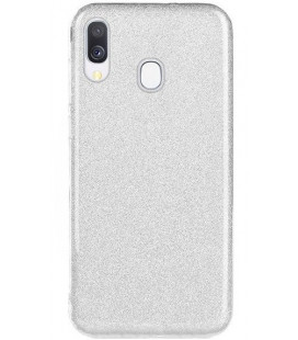"Dėklas ""Shine"" Samsung A405 A40 sidabrinis"