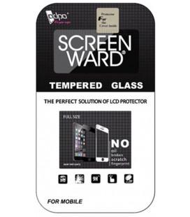 """LCD apsauginis stikliukas """"Adpo 3D"""" Samsung A750 A7 2018 lenktas juodas"""