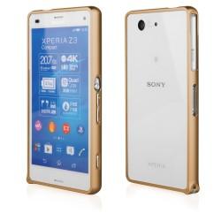 Auksinės spalvos metalinis rėmelis - dėklas Sony Xperia Z3 telefonui