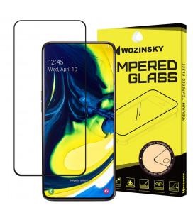 """Juodas apsauginis grūdintas stiklas Samsung Galaxy A80 telefonui """"Wozinsky Full Glue CF"""""""