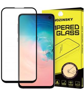 """Juodas apsauginis grūdintas stiklas Samsung Galaxy S10E telefonui """"Wozinsky Full Glue CF"""""""