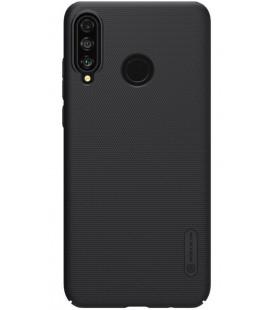"""Juodas dėklas Huawei P30 Lite telefonui """"Nillkin Frosted Shield"""""""