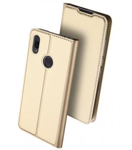 """Auksinės spalvos atverčiamas dėklas Xiaomi Redmi Note 7 telefonui """"Dux Ducis Skin"""""""