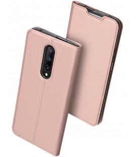 """Rausvai auksinės spalvos atverčiamas dėklas Oneplus 7 Pro telefonui """"Dux Ducis Skin"""""""