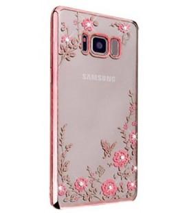 """Rausvai auksinės spalvos dėklas Samsung Galaxy S8 Plus telefonui """"Flower"""""""