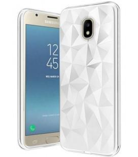 """Baltas dėklas Samsung Galaxy J3 2017 telefonui """"Diamond Case"""""""