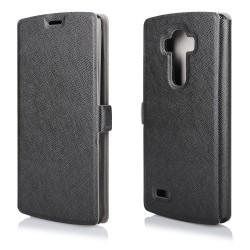 """Juodas atverčiamas dėklas LG G4s telefonui """"Soft"""""""