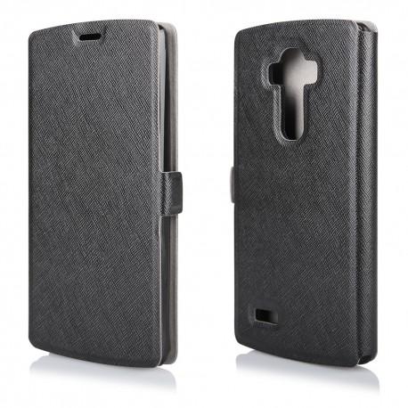 """Juodas atverčiamas dėklas LG G4 Stylus telefonui """"Soft"""""""