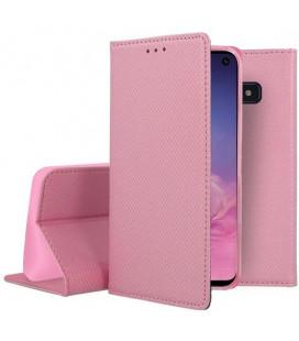 """Rožinis atverčiamas dėklas Samsung Galaxy S10E telefonui """"Smart Book Magnet"""""""