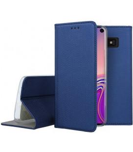 """Mėlynas atverčiamas dėklas Samsung Galaxy S10E telefonui """"Smart Book Magnet"""""""