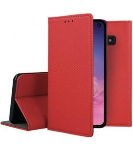 """Raudonas atverčiamas dėklas Samsung Galaxy S10E telefonui """"Smart Book Magnet"""""""