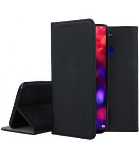"""Juodas atverčiamas dėklas Huawei Honor View 20 telefonui """"Smart Book Magnet"""""""