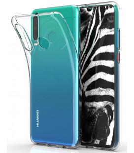 Skaidrus plonas 0,3mm silikoninis dėklas Huawei P30 Lite telefonui