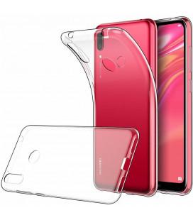 Skaidrus plonas 0,3mm silikoninis dėklas Huawei Y7 2019 telefonui
