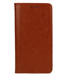 """Odinis rudas atverčiamas klasikinis dėklas Huawei Y7 2019 telefonui """"Book Special Case"""""""