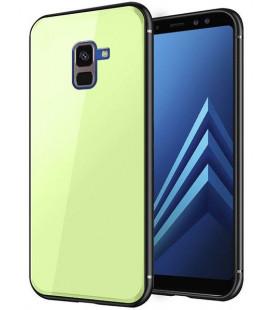 "Žalias dėklas Samsung Galaxy A8 2018 telefonui ""Glass Case"""