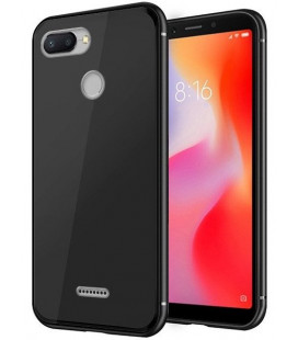 """Juodas dėklas Xiaomi Redmi 6 telefonui """"Glass Case"""""""