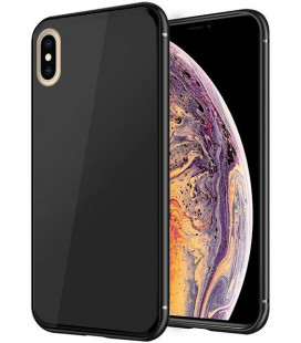 "Juodas dėklas Apple iPhone X/XS telefonui ""Glass Case"""