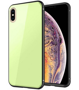 "Žalias dėklas Apple iPhone X/XS telefonui ""Glass Case"""