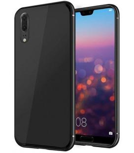 """Juodas dėklas Huawei P20 telefonui """"Glass Case"""""""