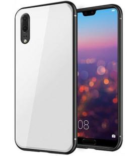 """Baltas dėklas Huawei P20 telefonui """"Glass Case"""""""