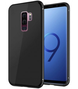 "Juodas dėklas Samsung Galaxy S9 Plus telefonui ""Glass Case"""