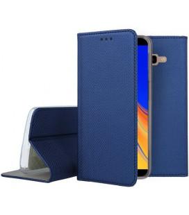 """Mėlynas atverčiamas dėklas Samsung Galaxy J4 Plus 2018 telefonui """"Smart Book Magnet"""""""