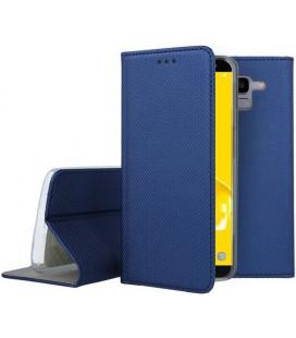 """Mėlynas atverčiamas dėklas Samsung Galaxy J6 2018 telefonui """"Smart Book Magnet"""""""