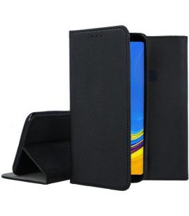 """Juodas atverčiamas dėklas Samsung Galaxy A9 2018 telefonui """"Smart Book Magnet"""""""