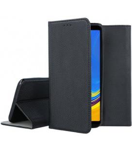 """Juodas atverčiamas dėklas Samsung Galaxy A7 2018 telefonui """"Smart Book Magnet"""""""