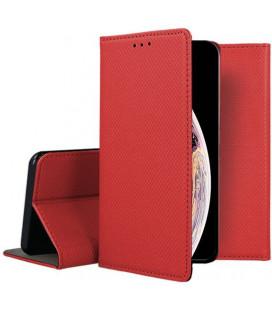 """Raudonas atverčiamas dėklas Apple iPhone XS Max telefonui """"Smart Book Magnet"""""""