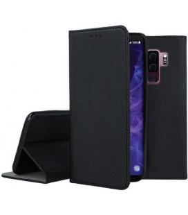 """Juodas atverčiamas dėklas Samsung Galaxy S9 Plus telefonui """"Smart Book Magnet"""""""