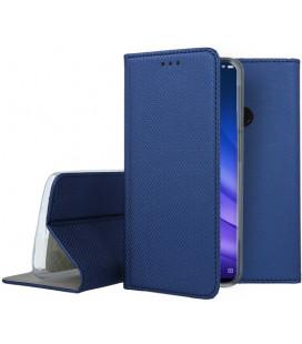 """Mėlynas atverčiamas dėklas Xiaomi Mi 8 Lite telefonui """"Smart Book Magnet"""""""