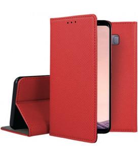 """Raudonas atverčiamas dėklas Samsung Galaxy S8 Plus telefonui """"Smart Book Magnet"""""""