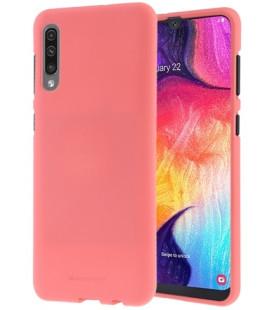 """Rožinis silikoninis dėklas Samsung Galaxy A70 telefonui """"Mercury Soft Feeling"""""""