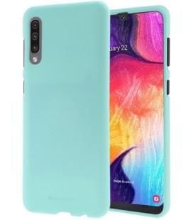 """Mėtos spalvos silikoninis dėklas Samsung Galaxy A70 telefonui """"Mercury Soft Feeling"""""""