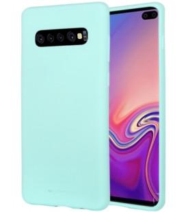 """Mėtos spalvos silikoninis dėklas Samsung Galaxy S10 Plus telefonui """"Mercury Soft Feeling"""""""