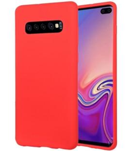 """Raudonas silikoninis dėklas Samsung Galaxy S10 Plus telefonui """"Mercury Soft Feeling"""""""
