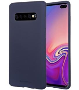 """Tamsiai mėlynas silikoninis dėklas Samsung Galaxy S10 Plus telefonui """"Mercury Soft Feeling"""""""