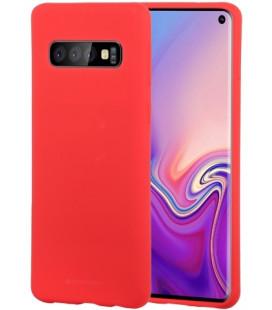 """Raudonas silikoninis dėklas Samsung Galaxy S10 telefonui """"Mercury Soft Feeling"""""""